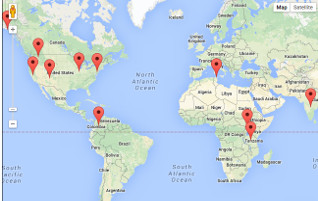 International Media Action projects- click to view locations